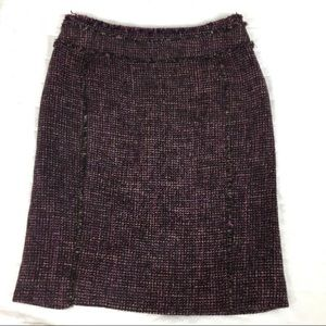 Ann Taylor Petites | Tweed Wool Mini Skirt 2P